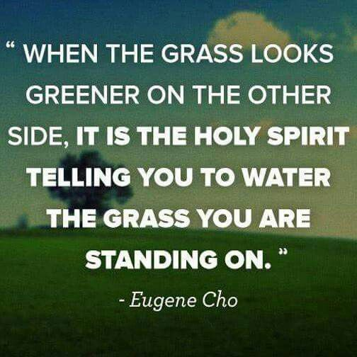 water the grass you are standing on